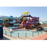 Professional Spiral Water Slide , Big Splash Water Slide 6 - 8mm Thickness