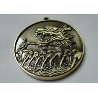 Custom Zinc Alloy / Pewter / Dragon / Brass Boat 3D Die Cast Medals for Souvenir Gift Manufactures
