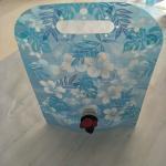 Custom Blue Printing Vertical Liquid Water Packaging Bag Leakproof SGS Manufactures