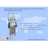 Vacuum 40k Cavitation Cryolipolysis Slimming Machine Liposuctio Device Three Handles Manufactures