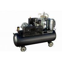 High quality customized 4kw small unit single phase tank mounted 8 bar screw belt driven air compressor Manufactures