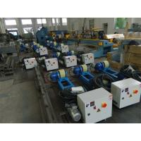 2T Capacity Bolt Adjustment Pipe Welding Rollers with Polyurethane Rollers Gear Reducer Manufactures