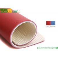 Thin Plastic PVC Vinyl Flooring Tiles / Club Or Gym Rubber Flooring Mats Manufactures