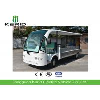 Utility Electric Vehicle Cargo Bus With 7kW DC Motor Powered White Color Manufactures