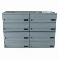 China Combined type letter box with lock, metal box, powder coating, used in apartment on sale