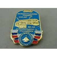 Die Stamped Soft Enamel Military Pin , Zinc Alloy Material Badge Manufactures