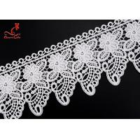 China 2.2cm Cute Water Soluble Flower Lace Trim For Children Garment   on sale