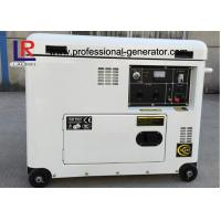 Electric Start 5.5kw Diesel Generator , Brush with AVR , Straight Shaft Coupling