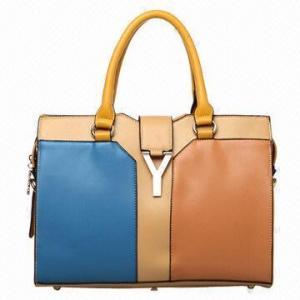 China Contrast color new fashionable classical handbag, brand style on sale