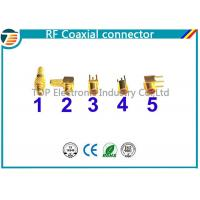 MMCX Male Crimp Connector Right Angle 50 OHMs For RG316 Coaxial Cable Manufactures