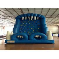 Blue Rock Climbing Bounce House 6 X 4m , Commercial Inflatable Ladder Climb Manufactures