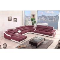 Quality Unique Leather Modular Sectional Sofa Modern Soft For Living Room for sale