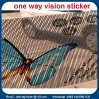 Double-sided Two Way Vision Vinyl Window Sticker Manufactures