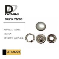 China Custom Clothing Snap Buttons Antique Silver Pearl Bulk Size 12 Size 14 Size 16 on sale