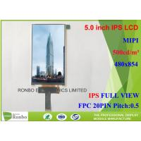 Buy cheap Customized MIPI Interface IPS LCD Screen , Thin IPS LCD Panel FWVGA 5.0 Inch 480 from wholesalers