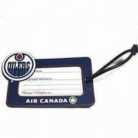 Simple Design PVC Luggage Tag with Clear Logo, Customized Sizes, Logos, and Shapes are Accepted Manufactures
