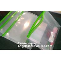Resealable Clear Reclosable Stand Up Pouches Plastic Seal Zip Lock Bags Poly Bag,gridding document zip bag with metal ho Manufactures