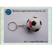 China White and black Soccer Ball soft PVC keychain for World Cup souvenir on sale