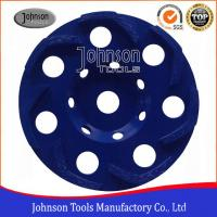 China Boomerang Shaped 5 / 6 Inch Concrete Grinding Wheel For Grinding Rough Surfaces 50x6.2x7mm on sale