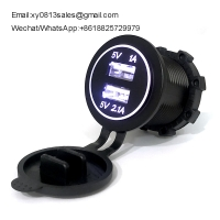 China China Factory Full Waterproof 3.1A/4.2a Car Mobile phone Charger used on bus motorcycle marine on sale