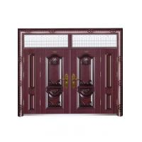 Villa metal security door european simple style wood like color W1500*H560-850mm Manufactures