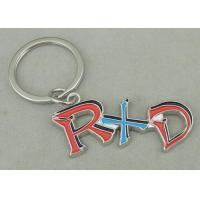 Zinc Alloy Synthetic Enamel Promotional Keychain Die Casting Silver RXD Key Ring Manufactures