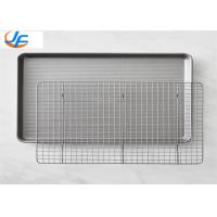 Half Sheet Aluminium Baking Tray With Baking Rack For Shop / Industry Manufactures