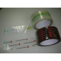 Two Color Print On Clear Bopp Packing Adhesive Tape 36-90 Micron Thickness Manufactures
