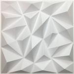 DIY Geometric 3D PVC Wall Panels Washable Eco Friendly Depth 0.1 Centimeters Manufactures