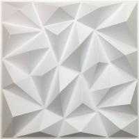 DIY Geometric 3D PVC Wall Panels Washable Eco Friendly Depth 0.1 Centimeters Manufactures