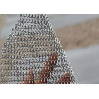 China Incombustible Silver Chain Mesh Curtains Aluminum Alloy Material UV Resistant on sale