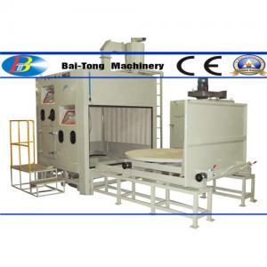 500kg Pressure Pot Sandblaster , Automatic Sandblasting Machine Two Work Stations Type Manufactures
