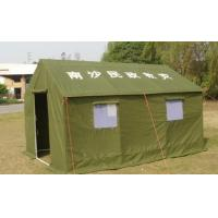 China Disaster Relief Heavy Duty Canvas Tents Frame Style For Army / Military on sale