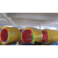 2.5m Inflatable Water Roller 0.9mm PVC Tarpaulin Fabric For Seashore Manufactures