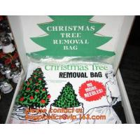 Promotion large removal waterproof Christmas artificial decorated tree bag,10 Ft Christmas Tree Removal Gift Bags packag
