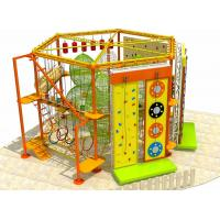 New Style Amusement Park Indoor and Outdoor Adventure Rope Course with Clambing Wall Manufactures