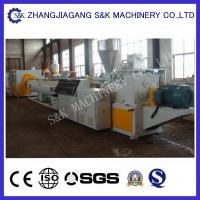 High Capacity Plastic Pipe Extrusion Line , Water Drainage Pipe Twin Screw Extrusion Equipment Manufactures
