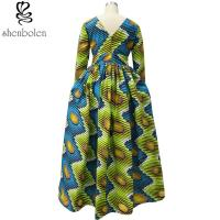 Traditioncal African Attire Dresses And Skirts Clothing Elegant Round Collar Manufactures