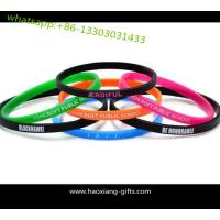 Wholesale cheap custom promotion printed adjustable silicone wristband/braclet Manufactures