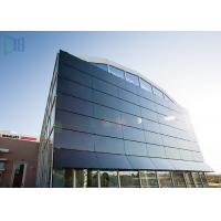 Aluminium Thermal Break Curtain Wall , Customized Invisible Frame Curtain Wall