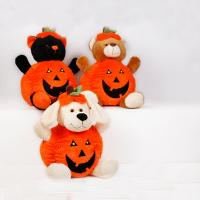 Orange Halloween Pumpkin Stuffed Plush Toys For Promotion, Soft Toys Manufactures