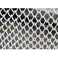 Aluminum Chain Metal Coil Drapery Cascade Coil Type For Hotel / Restaurant Manufactures