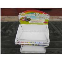 White Stratified Counter Display Boxes For Gum Candy Chocolate UV Coating Manufactures