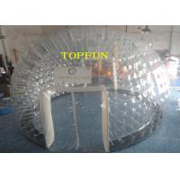 China 6m Diameter 1.0mm PVC Inflatable Clear Bubble Tent With Double Layers on sale