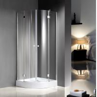 China Quadrant Curved Glass Shower Enclosures For Star Rated Hotels / Model Rooms on sale
