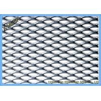 Silver Expanded Metal Mesh , Hot Galvanized Steel Welded Wire Mesh For Ceiling Tiles Manufactures