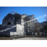 China Light Weight Steel Structure Villa House Pre Engineered Building Construction With Cladding Systems on sale