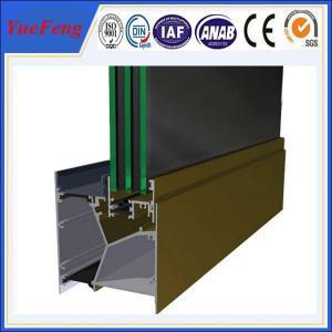 Hot! 98% pure alloy 6063 aluminium extrusion profile maked aluminum residential doors Manufactures