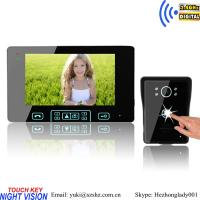 China 2.4ghz digital wireless intercom video door phone for apartments on sale