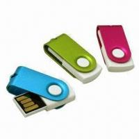 USB Flash Drives with Clip, 512MB to 32GB Memory Capacity, Supports Plug-and-play Function Manufactures